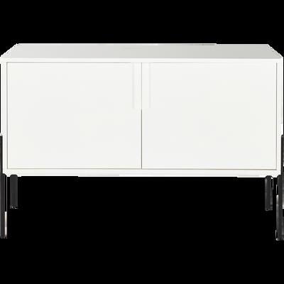 Buffet blanc avec pieds en métal noir L124cm-CLERET