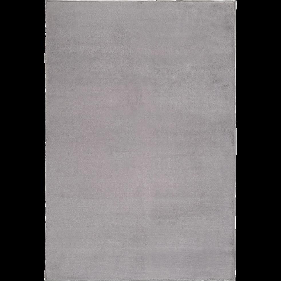Tapis imitation fourrure gris restanque 150x200cm-ROBIN