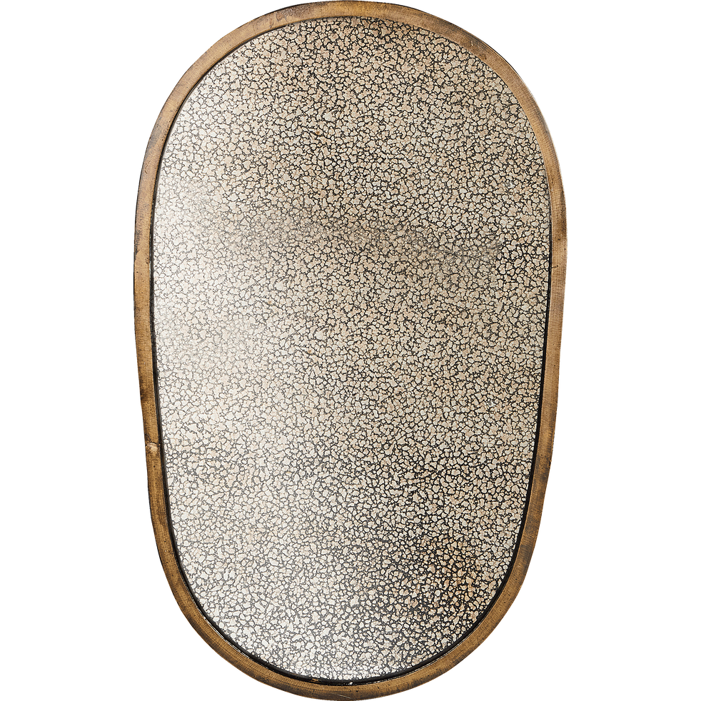 Miroir aspect vieilli cadre doré 30x50 cm-ORO