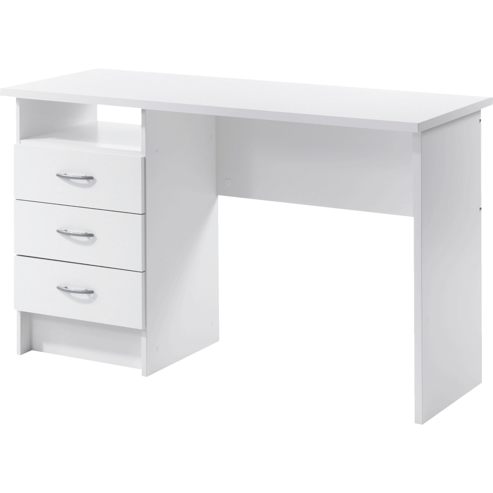 bureau blanc avec 3 tiroirs function bureaux alinea. Black Bedroom Furniture Sets. Home Design Ideas