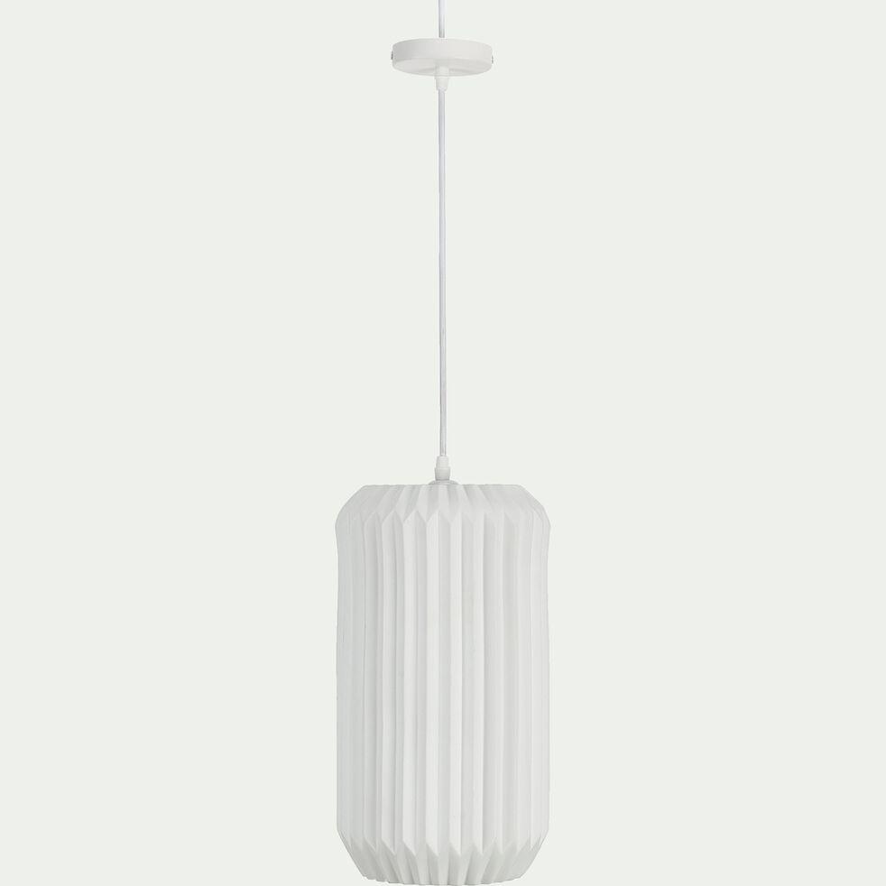 Suspension en porcelaine D20xH37,50cm - Blanc-HOSSEGOR