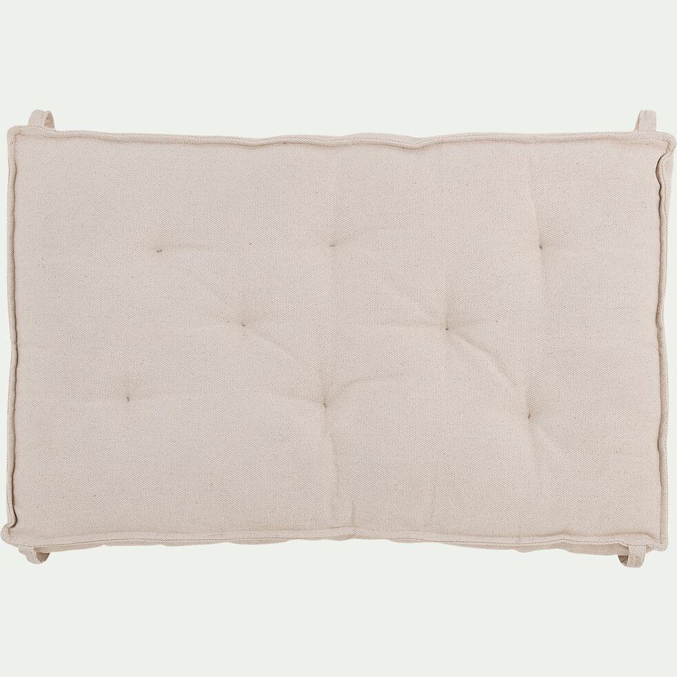 Coussin de sol pour palette en coton - beige 80x130cm-TAKI
