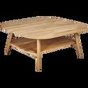 Table basse carrée en chêne massif-PAMPA