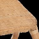 Table basse de jardin en rotin naturel-GERA