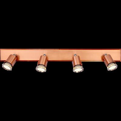 Spot en métal cuivré 4 lumières L70cm-ALFONSO