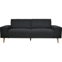 Canapé 3 places fixe en tissu gris restanque-COSMO