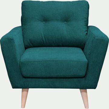 Fauteuil en tissu - vert-ICONE