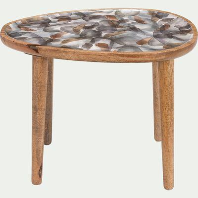 Bout de canapé en bois de manguier - naturel-SOULA