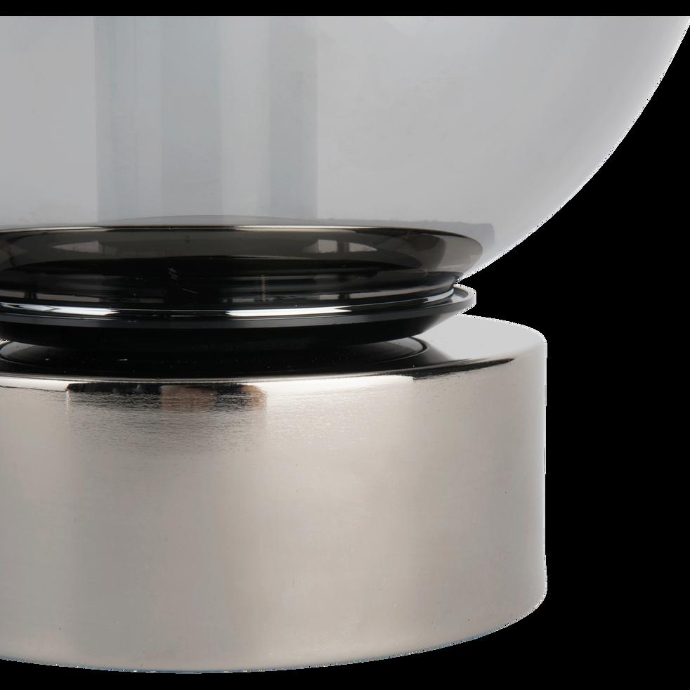Lampe en verre fumé D25cm-JORIT