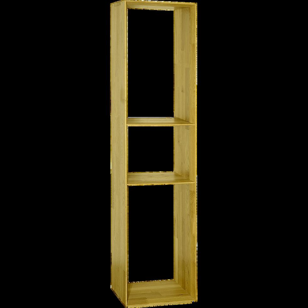 tag re biseaut e 3 cases en ch ne clair fine rangements composer alinea. Black Bedroom Furniture Sets. Home Design Ideas