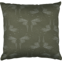 Coussin en coton vert imprimé 40x40cm-ATOSIA