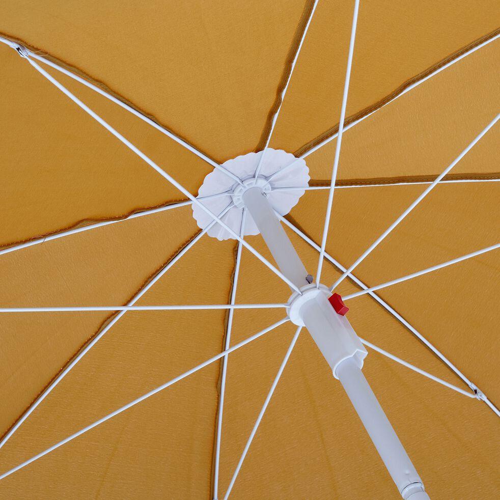 Parasol de plage - jaune argan (D180cm)-GASSIN