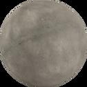 Boule décorative d'extérieur en résine grise D36,5cm-ATLAN