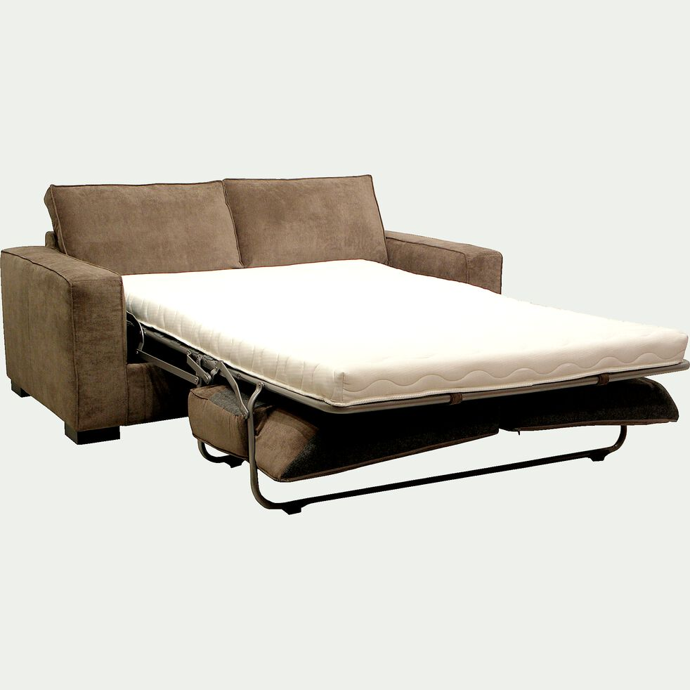 Canapé 2 places convertible BULTEX en tissu argile-CALIFORNIA