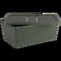 Boîte de rangement en plastique vert H15,5xP27x40 cm-ANDATI