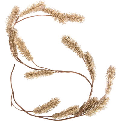 Guirlande de noël en polyéthylène doré L125cm-OUZOU