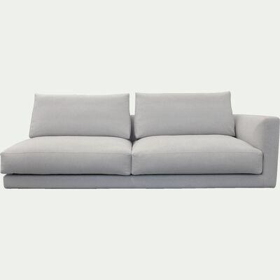 Élément de canapé 3 places droit modulable en tissu beige roucas-AUDES