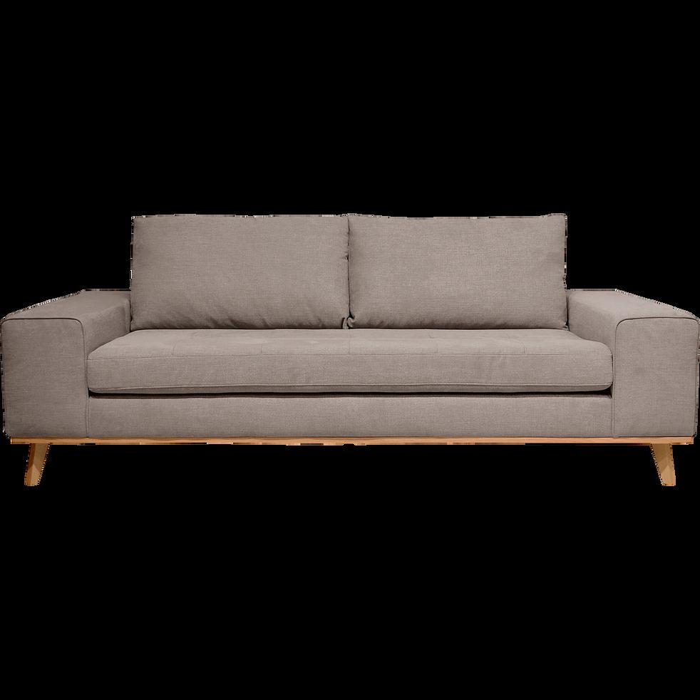 canap 3 places fixe en tissu argile picabia canap s droits en tissu alinea. Black Bedroom Furniture Sets. Home Design Ideas