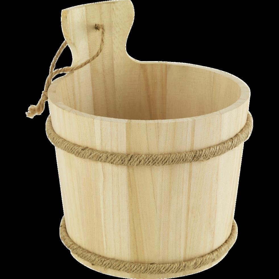 Seau sauna en bois clair-SOFT