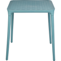 Table de jardin bleue en plastique (2 places)-PORTO