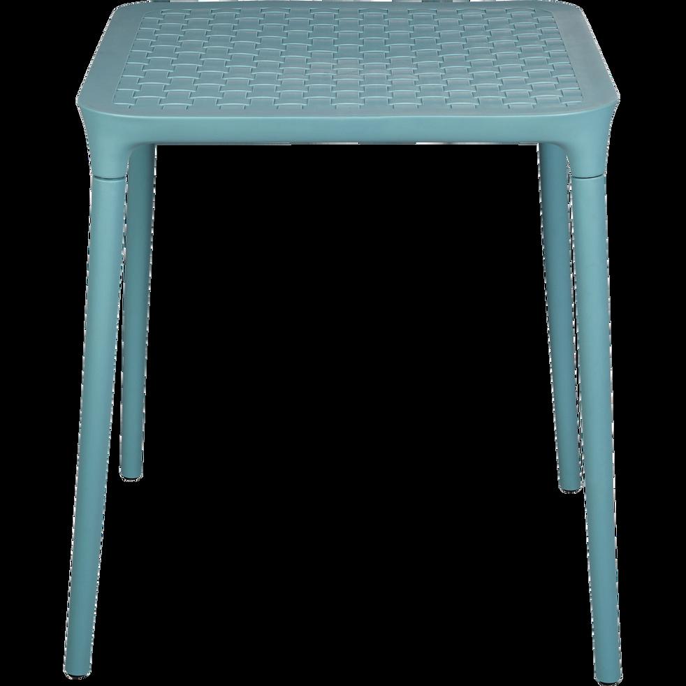 Table de jardin bleue en plastique (2 places)-PORTO