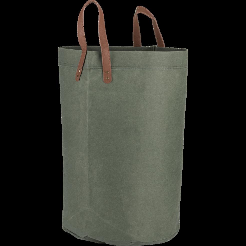 check-out 1342a 18253 SALIS - Panier de rangement vert D40xH60 cm