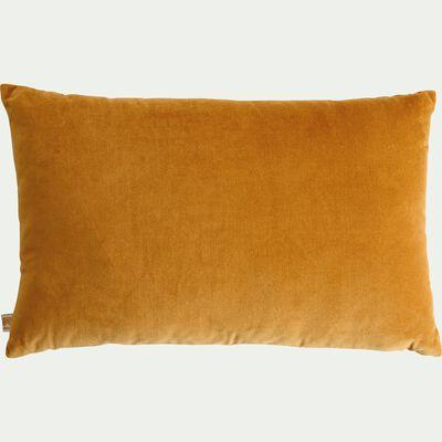 Coussin en velours beige nèfle 30x50cm-EDEN