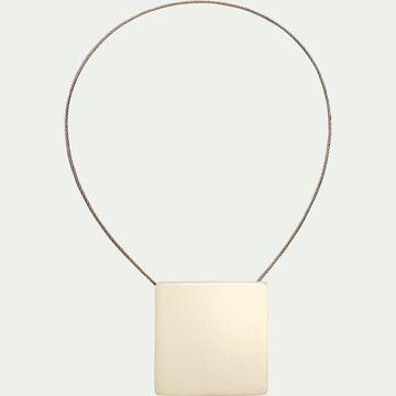 Embrasse magnétique carrée - blanc écru-CAMILLOU