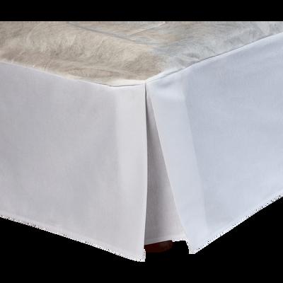Cache-sommier blanc 32 cm - 140x200 cm-OPALINE