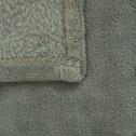 Plaid polaire 100x100 cm - Vert olivier-AMELIE