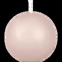 Bougie ronde rose sable D8cm-HALBA