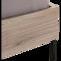Lit finition chêne 120x200cm-CASTEL