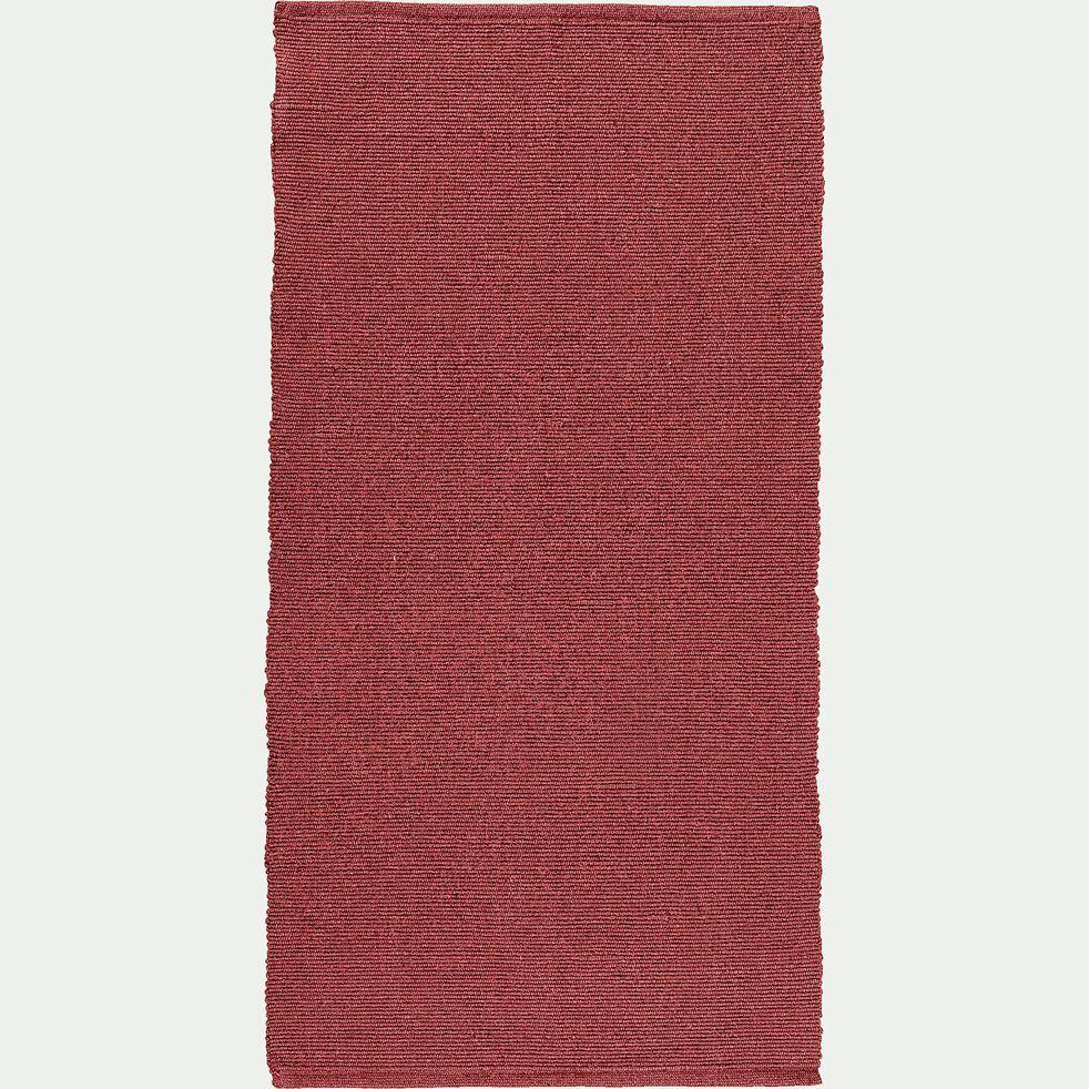 Descente de lit en coton - rouge ricin 60x120cm-CAMELIA