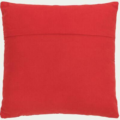 Coussin en coton rouge 40x40cm-MARCEAU