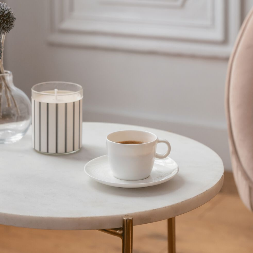Tasse en porcelaine blanc légère qualité hôtelière 11cl-SENANQUE