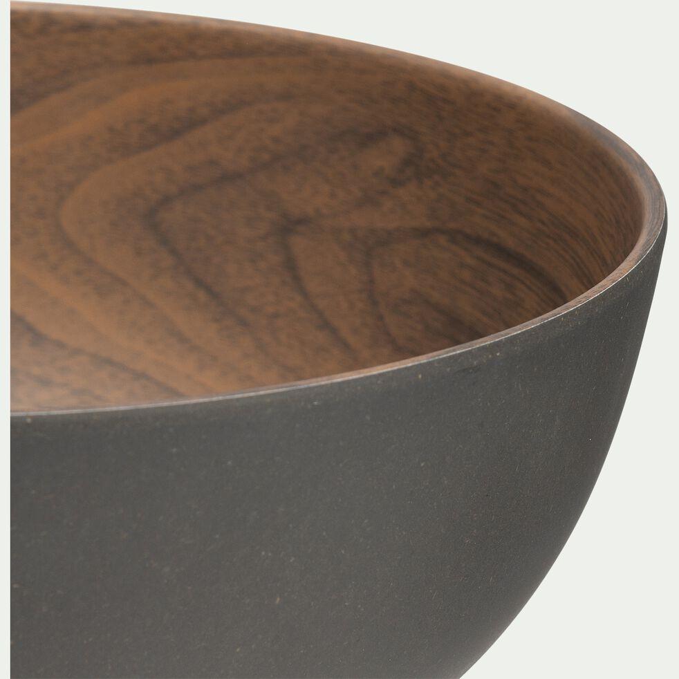 Saladier en matières végétales - marron D19cm-SULIAC