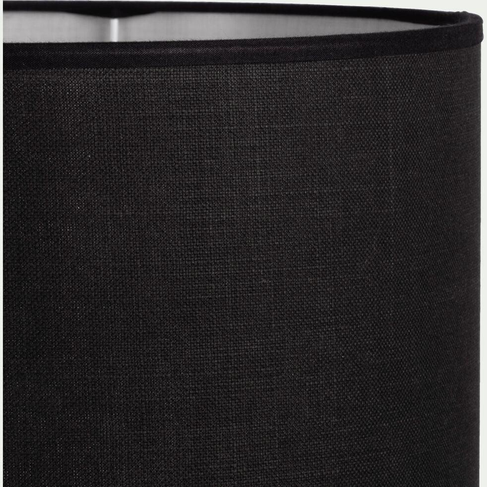 Suspension cylindrique en coton - D40cm noir-MISTRAL