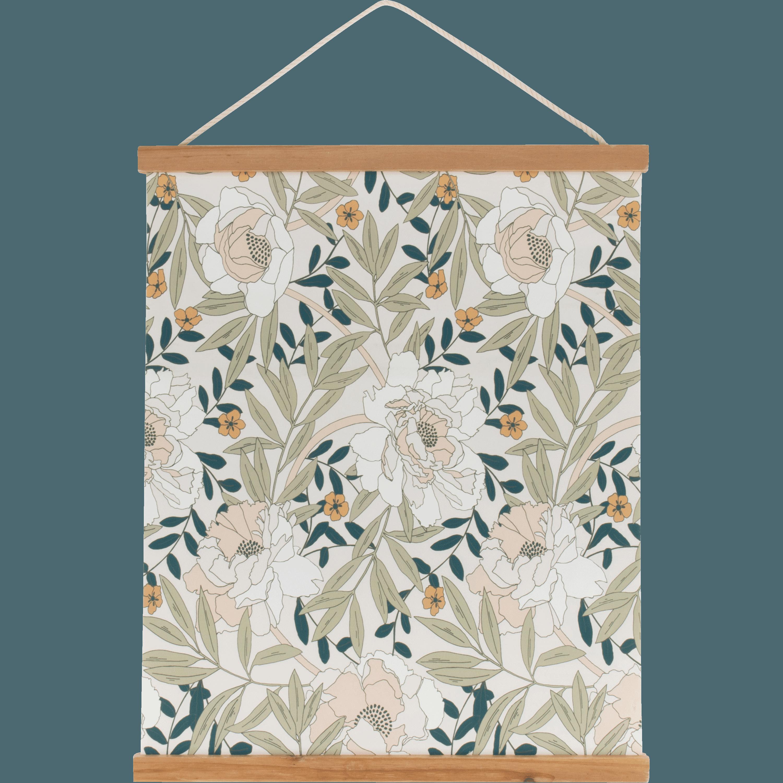 Grand Decoration Murale Kakemono Imprime Floral ARBOUSIER