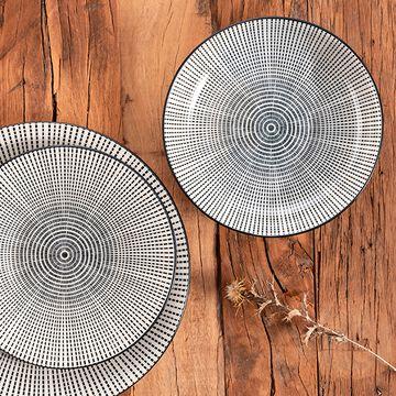 Gamme de vaisselle en grès décoré-MANDALA
