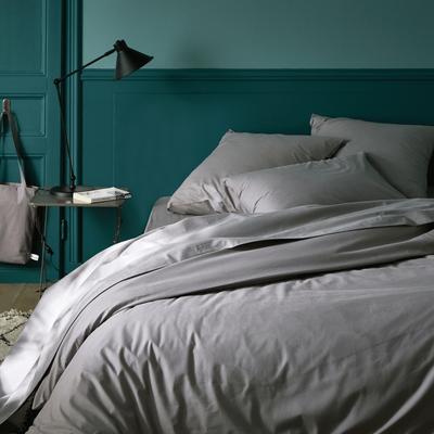 Linge de lit en coton gris restanque-CALANQUES