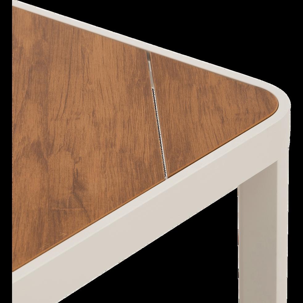 Table de jardin en aluminium et composite Gris borie-ALEP