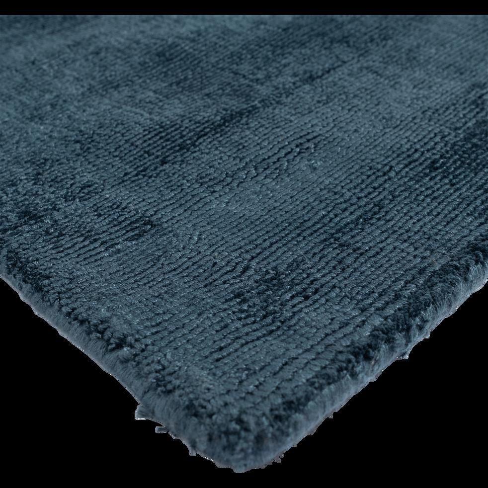 Tapis moiré bleu figuerolles 160x230cm-EDEN