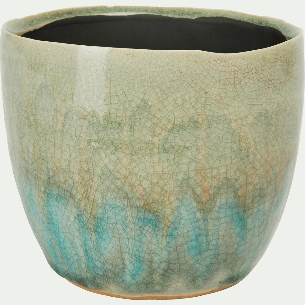 Cache-pot en céramique dégradé D13xH11 cm-Catane