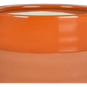 Cache-pot en céramique orange H13 cm-MARCO