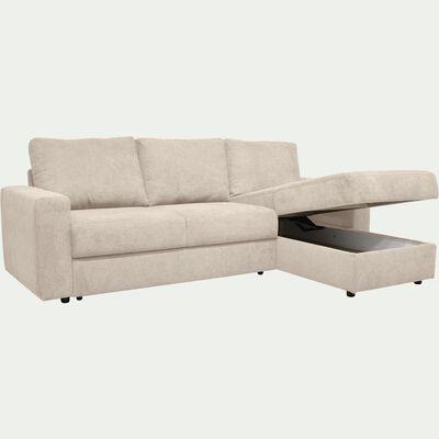 Canapé d'angle réversible 4 places convertible - beige roucas-HONORE