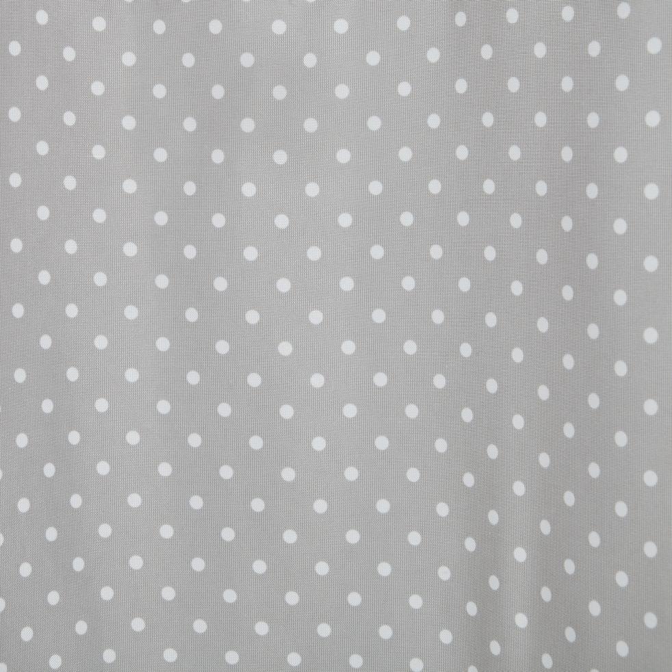 Voilage gris à pois blanc 140x240cm pour enfant-POIS