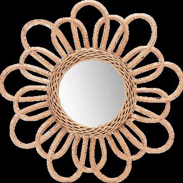 Miroir fleur en osier D38cm-ROSA