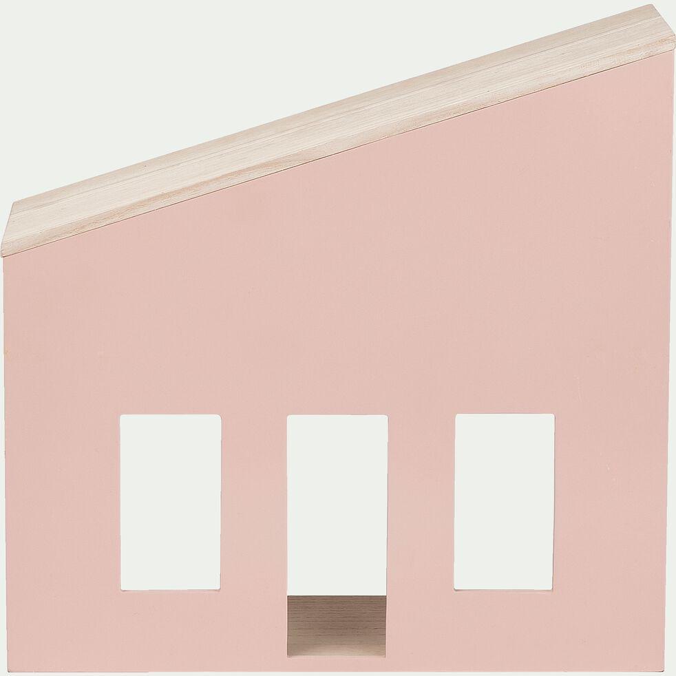 Étagère en forme de maison - rose-Oustau
