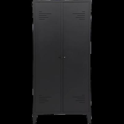 Armoire 2 portes en acier Noir mat-LOFTER