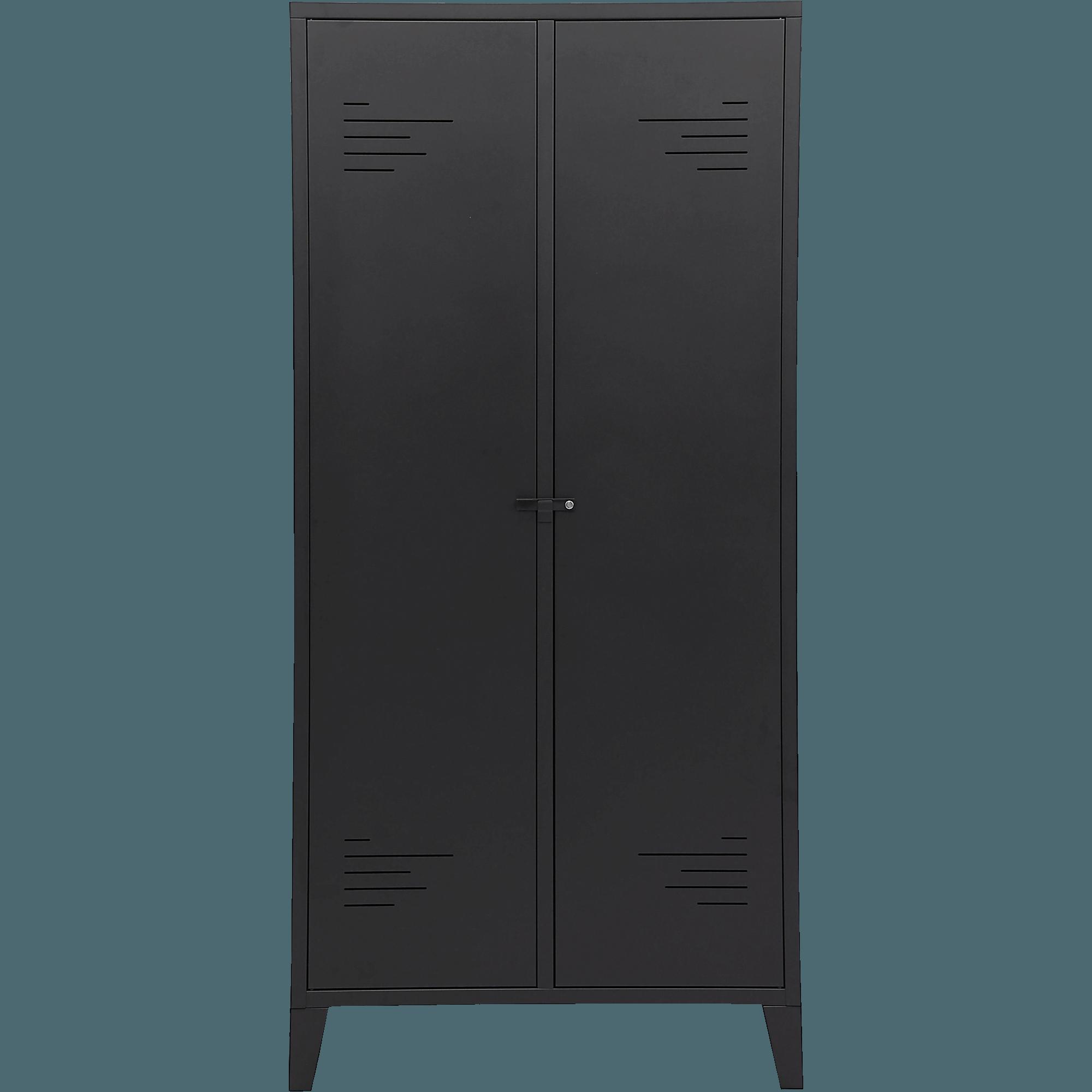Superieur Armoire 2 Portes En Acier Noir Mat LOFTER